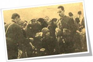 Pe tot parcursul sărbătorilor Crăciunului si Anului Nou 1940-1941, legionarii din cadrul Ajutorului Legionar, au împărtit alimente sărmanilor...