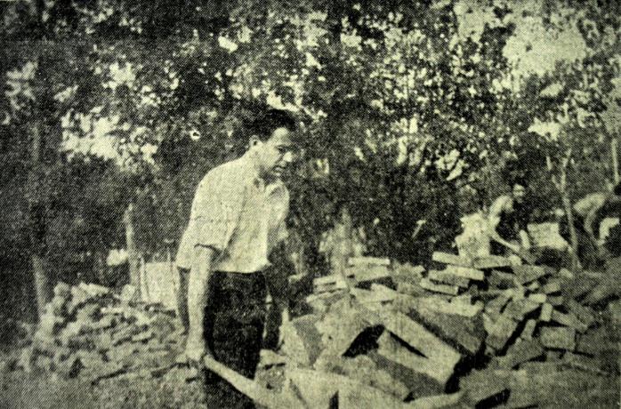 Profesorul Vasile Christescu, în 1933, lucrând la Casa Verde Colectia Fănică Anastasescu